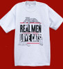 REAL MEN CAT T-SHIRT ASH