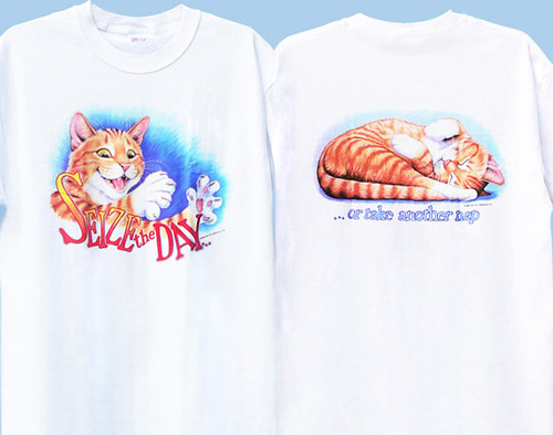 SEIZE THE DAY CAT SWEATSHIRT WHITE