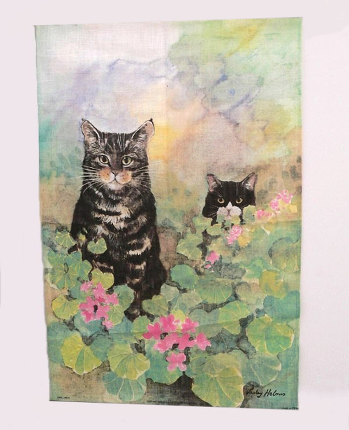 IRISH LINEN CAT TEA TOWEL