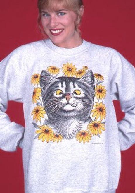 LADY BUG CAT SWEATSHIRT ASH
