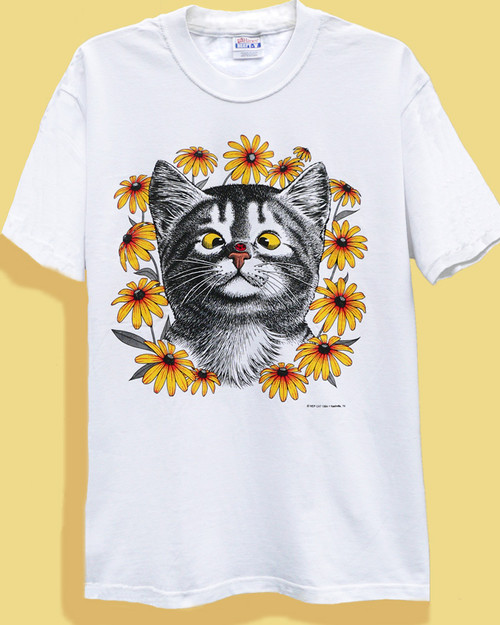LADY BUG  CAT T-SHIRT WHITE