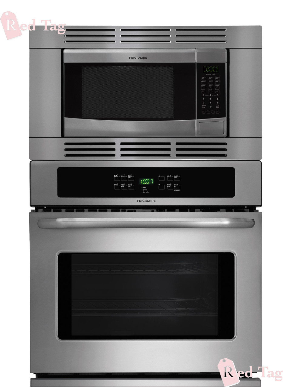 Frigidaire 27 Inch 3 Piece Stainless Steel Wall Oven Microwave Combo Ffew2725ps Ffmo1611ls Ffmotk27ls