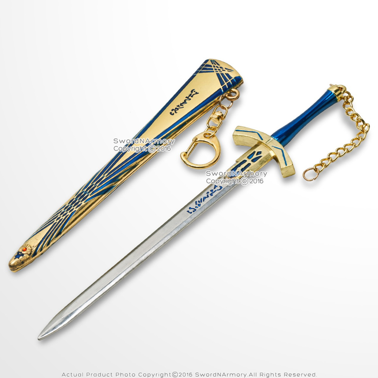 8 anime dagger fate stay night mini sword lily excalibur letter