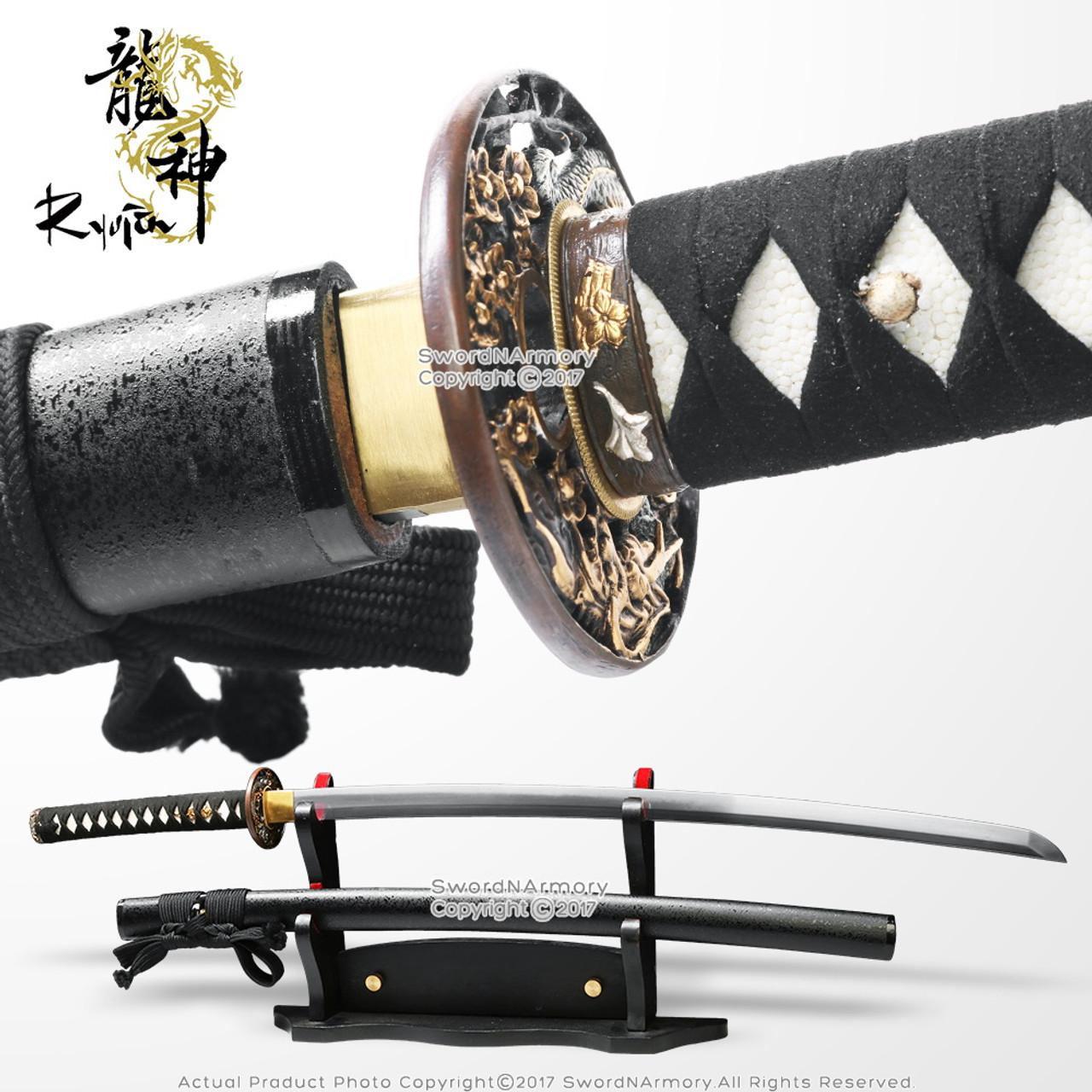 ryujin 40 handmade samurai katana sword 5160 spring steel blade sharp