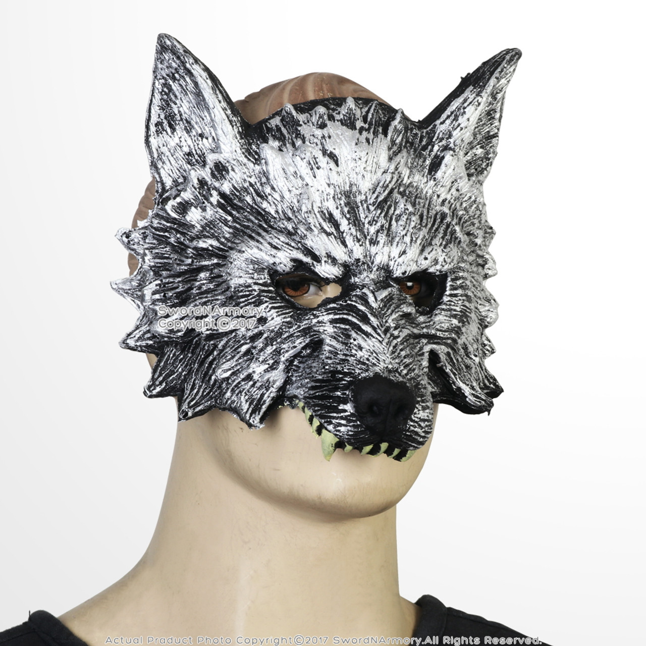 wolfs head foam mask adult men kid masquerade wolf werewolf halloween costume