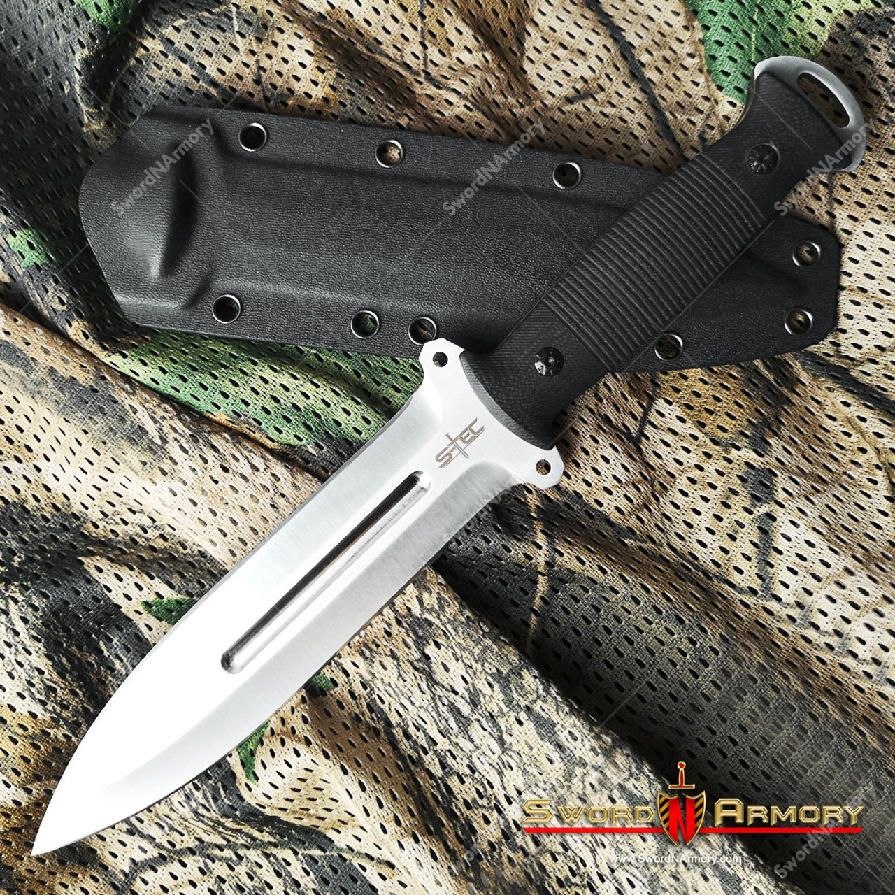 12 tactical combat knife 8cr13mov steel fixed blade g10 handle