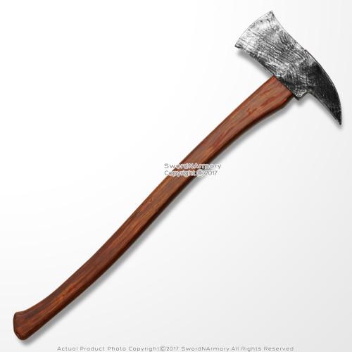 """27"""" Lumberjack Woodmans Toy Foam Axe Man Axemen LARP Weapon Costume Movie Prop"""