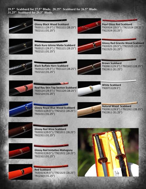 """Ryujin Customized Sword - Shinogi Zukuri T10 Steel T91041- 27.5"""" Blade / 10.5"""" Handle with Bohi"""