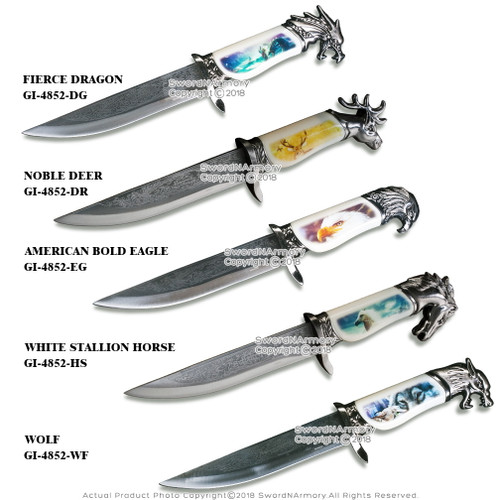 """13.5"""" Fantasy Dagger Bowie Gift Knife with Scabbard Souvenir"""