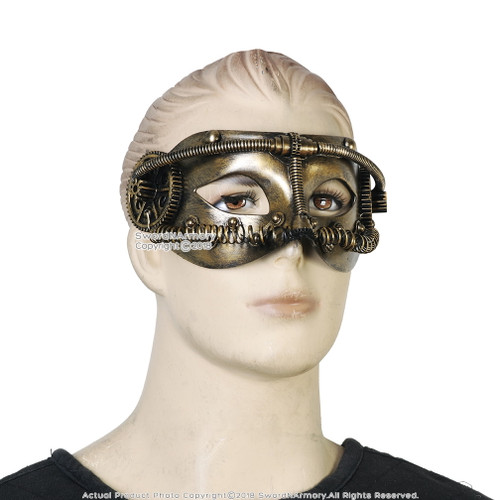 Steampunk Phantom Masquerade Full Mask Cosplay Costume Events Prop