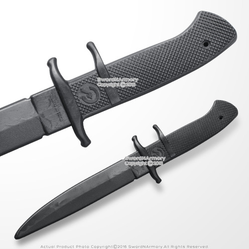 "Polypropylene 12"" Martial Arts Combat Tactical Training Fixed Blade Knife Dagger"