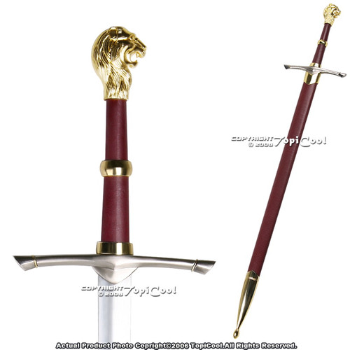 Medieval Knight Crusader Princes Peter Sword with Lion Head Handle