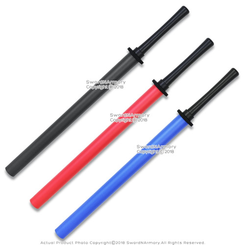 Set of 2 Foam Padded Training Swords Shinai Bokken with Hard Plastic Handle