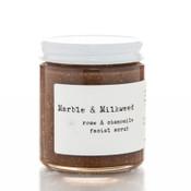 Marble and Milkweed Raw Honey Rose and Cardamom Facial Scrub