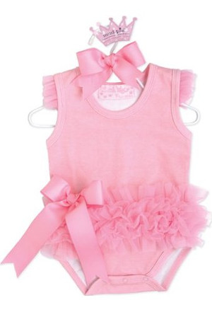 "Pink ""Tiny Dancer"" Ballerina Crawler Bodysuit"