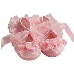Pink Cloth Shoes with beautiful Lace