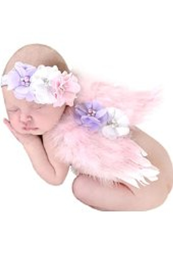 Angel Feather Butterfly Wings with Bow Headband