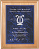 Blue Marble Plaque with Light Wood Backdrop 350