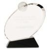 Large Clear Crystal Golf Award on Black Crystal Base