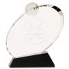 Small Clear Crystal Golf Award on Black Crystal Base