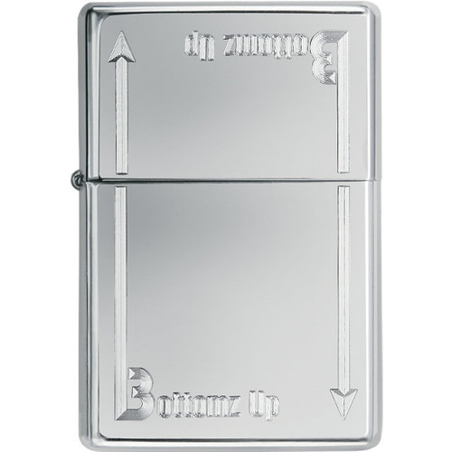 Zippo® Bottomz Up® High Polish Chrome Lighter