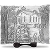 Vintage schoolhouse design personalized tray