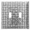 Basketweave Double Switch Plate Cover (Aluminum)