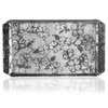Hand hammered aluminum tray with dogwood flowers