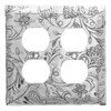 Tracery Double Outlet Cover (Aluminum)