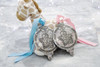 Baby Boy 1st Christmas Ornament with Crystals