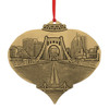 Clemente Bridge from the North Shore Ornament  by JP Diroll