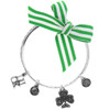 Celtic Shamrock Luck Charm Bangle