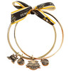 Pittsburgh Penguins 50th Anniversary Charm Gold Bangle