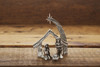 Miniature Nativity Set hand sculpted in pewter