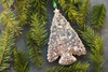 Bronze Christmas Tree Ornament with Swarovski Crystals