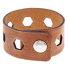 Thick Leather Bridges Cuff Bracelet