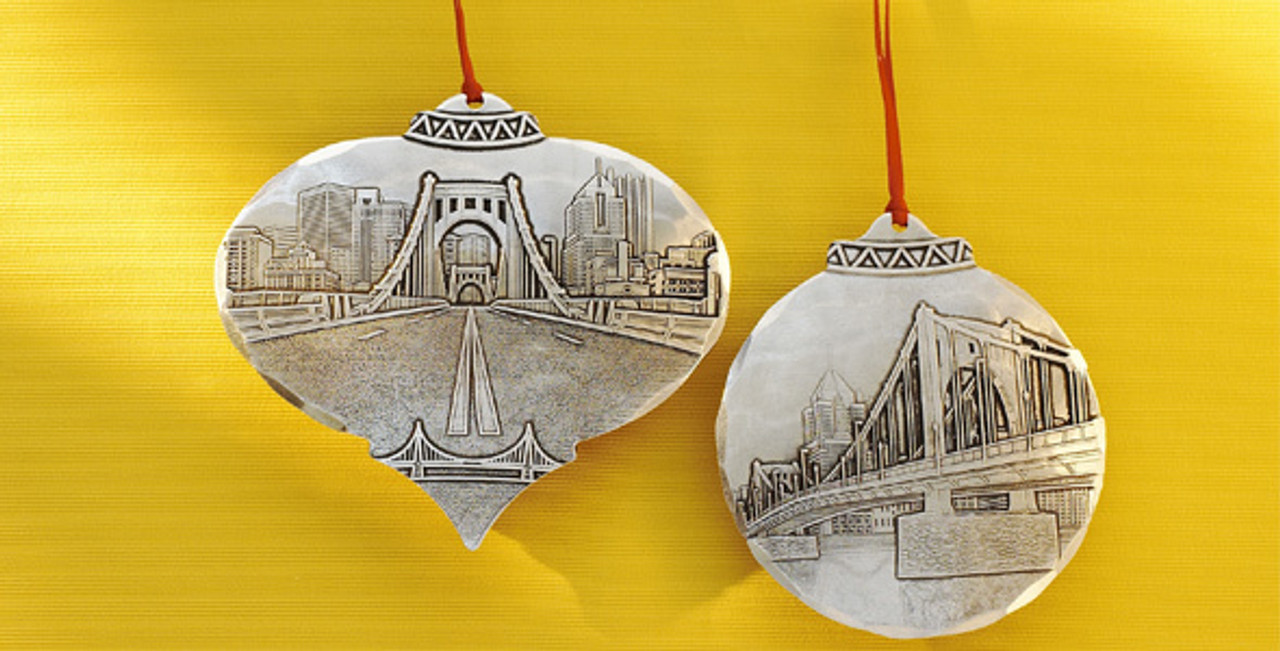 City Skyline Christmas Ornaments - City Christmas Ornaments Wendell August Forge