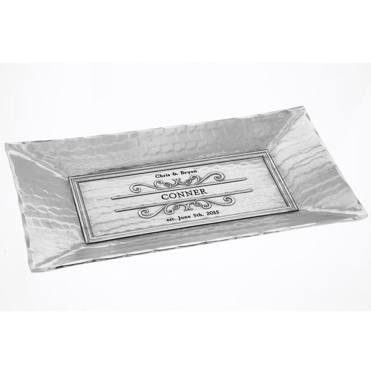 customizable engraved serving tray handcrafted in america