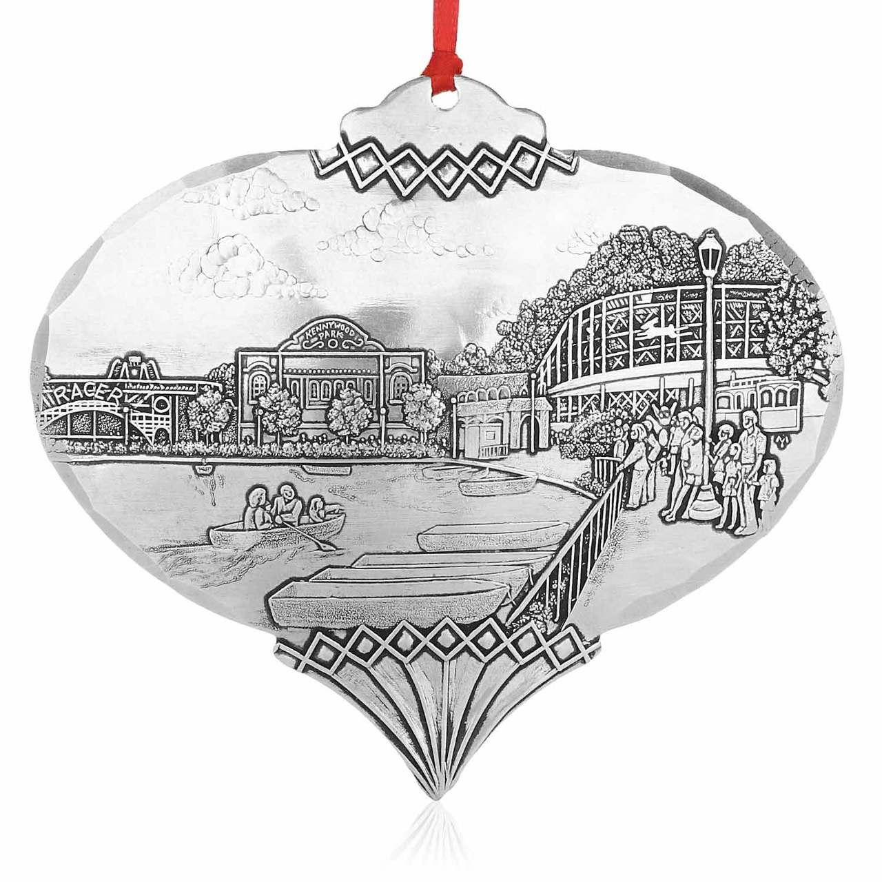 Pittsburgh Christmas Ornament, Coasting Through Kennywood by Linda ...