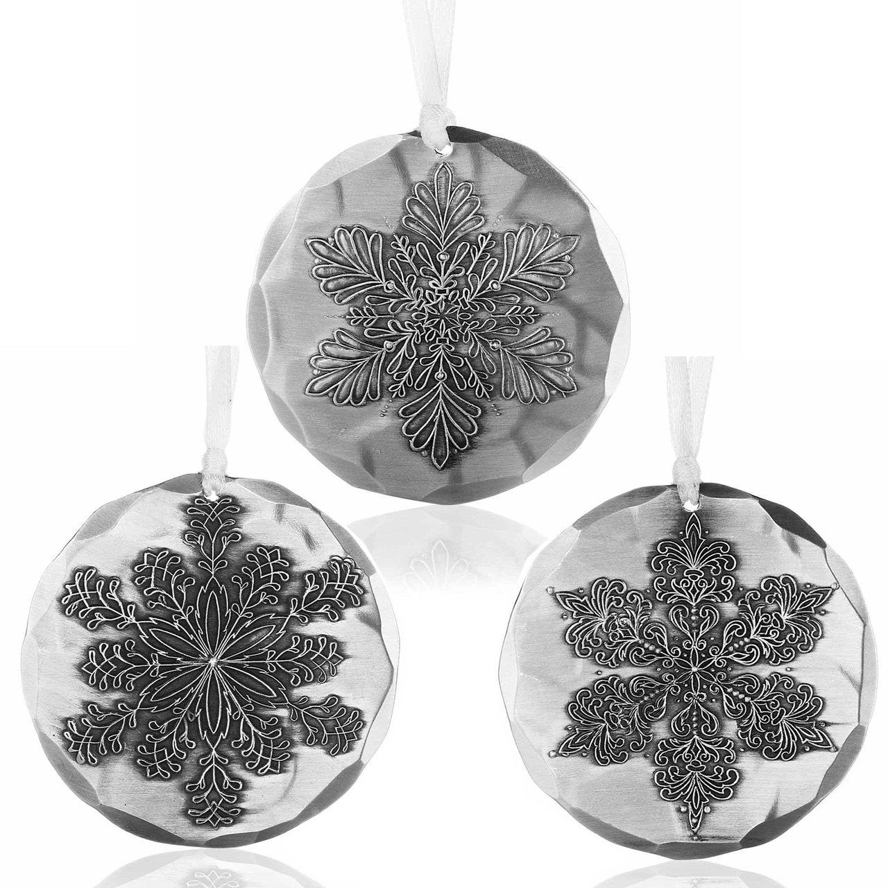 Snowflake Christmas Ornament Set | Wendell August Ornaments