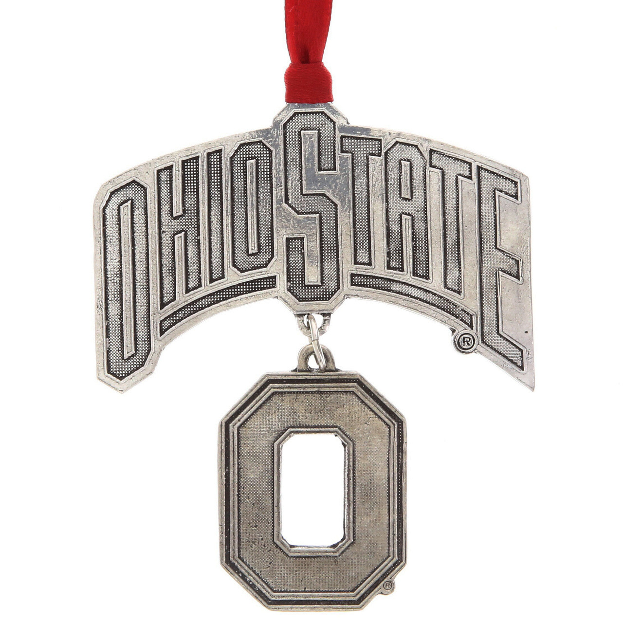 Ohio State Christmas Ornament, Dangling O | Wendell August Ornaments