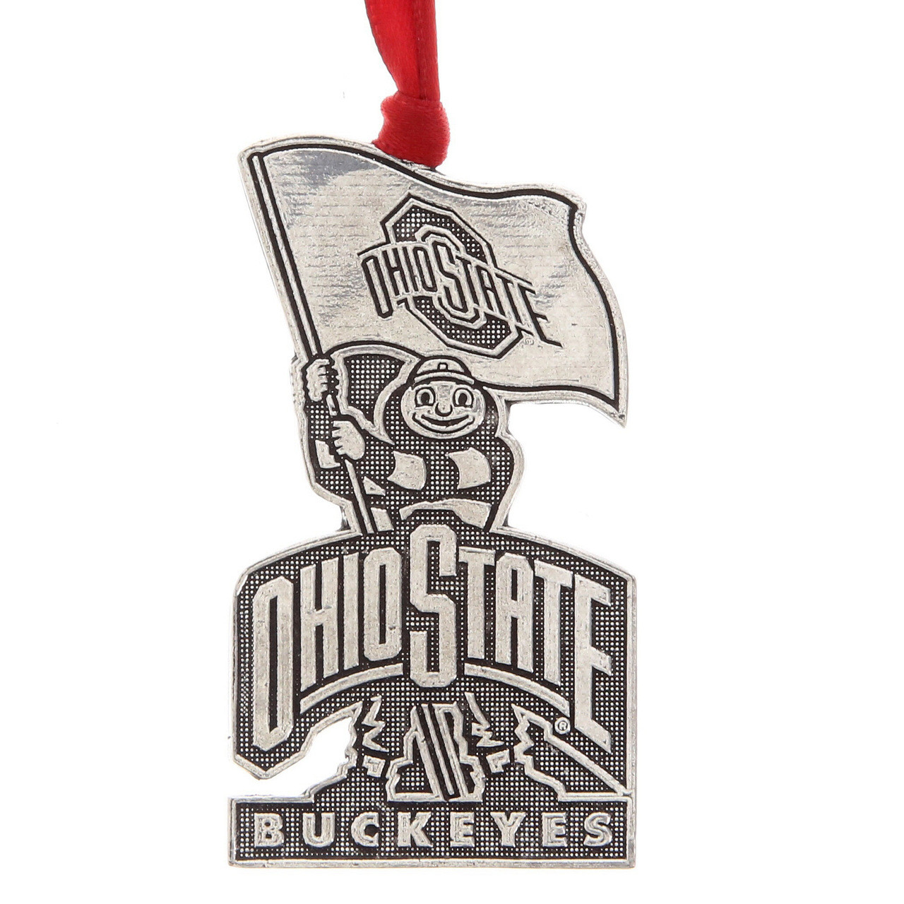 Ohio State Christmas Ornament, Brutus | Wendell August | Pewter ...