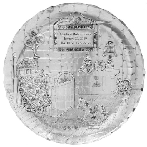 Personalized Decorative Baby Nursery Plate