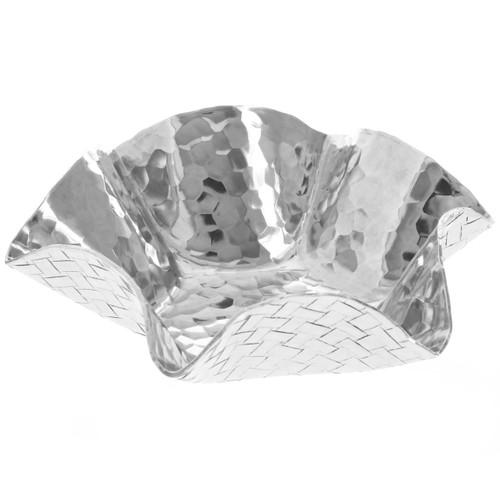 Basketweave Small Ruffle Bowl