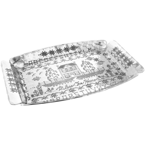 Bless Our Home Aluminum Serving Tray