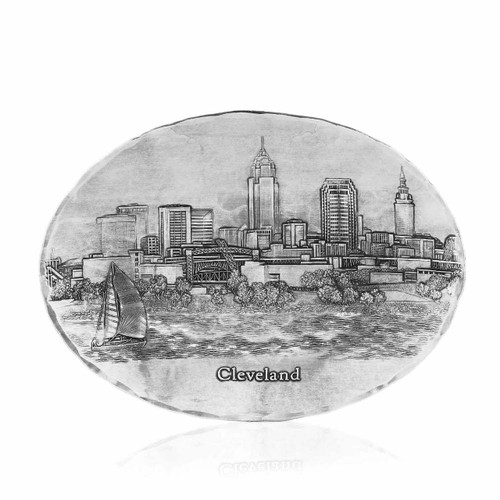 Cleveland Skyline Small Oval Dish
