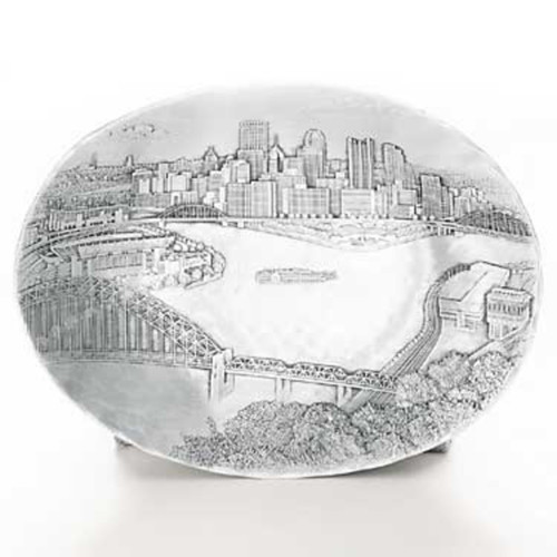 Pittsburgh Skyline Medium Oval Dish
