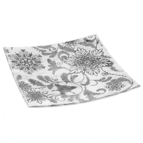 Winter holiday design square snack tray
