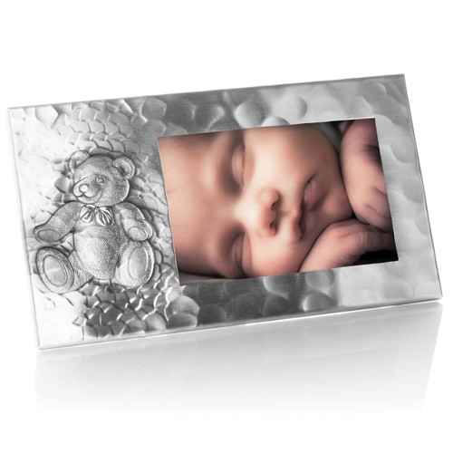 Personalized Teddy Bear Photo Frame is ideal engraved baby gift