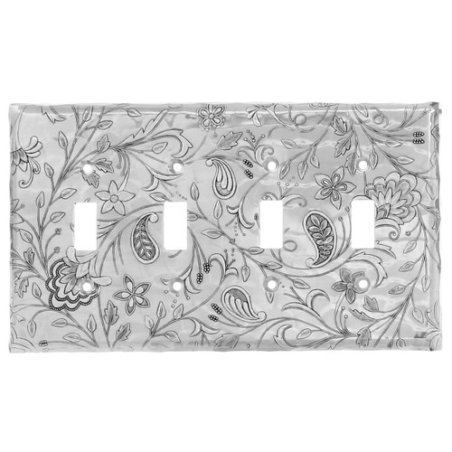 Tracery Quad Switch Plate Cover (Aluminum)
